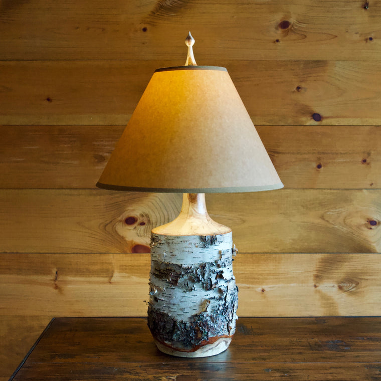 Turned Birch Table Lamp