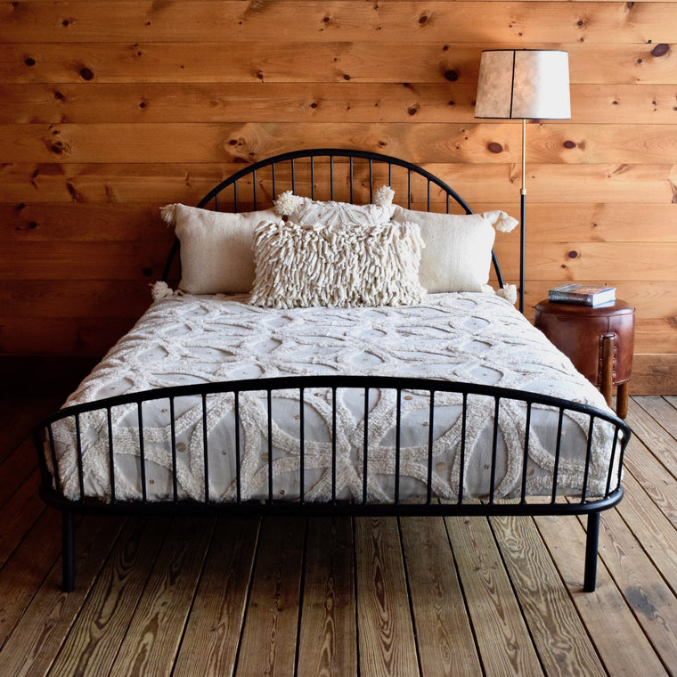 Hand-Wrought Iron Bed