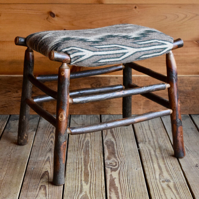 Camp Stool with Blanket Wool Seat