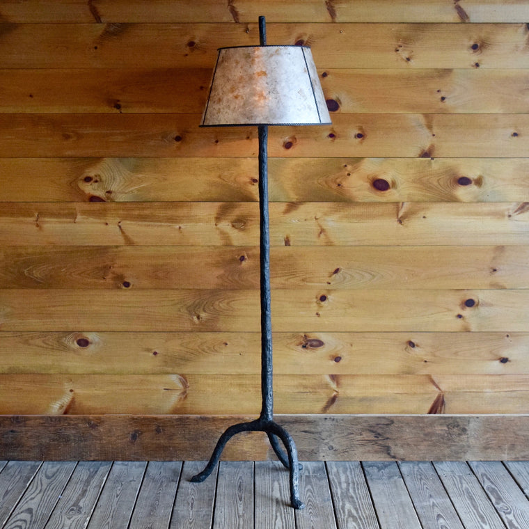 Iron Tree Floor Lamp with Mica Shade