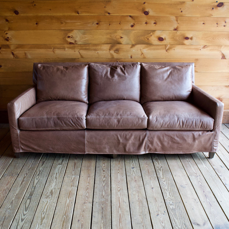 Pine Knot Leather Sofa