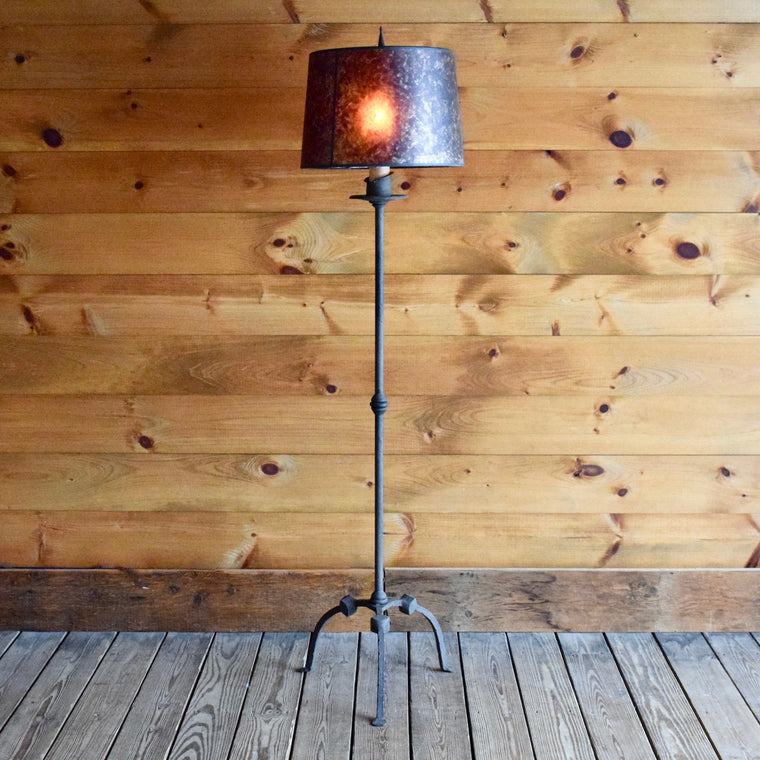 Hand Forged Knuckle Joint Floor Lamp