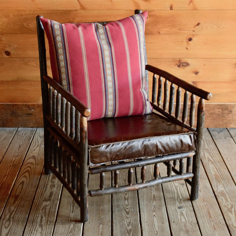 East Hill Hickory Club Chair in Chili Stripe | Dartbrook Signature Collection