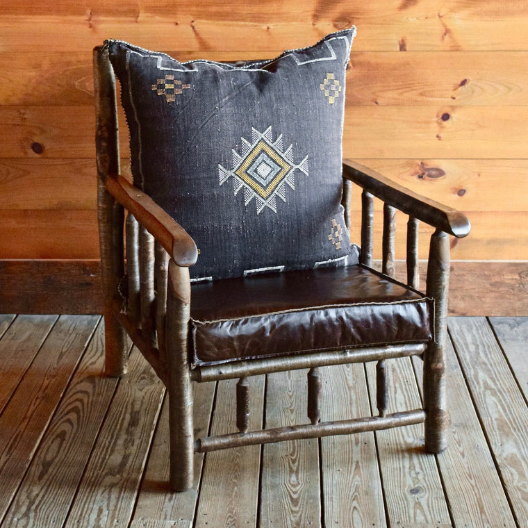 East Hill Yellow Birch Club Chair in Cactus Silk