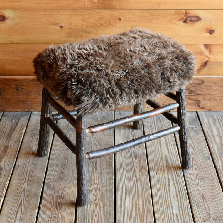 Camp Stool with Sheepskin Seat