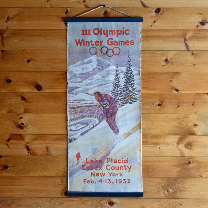 1932 Lake Placid Essex County Olympic Wall Chart