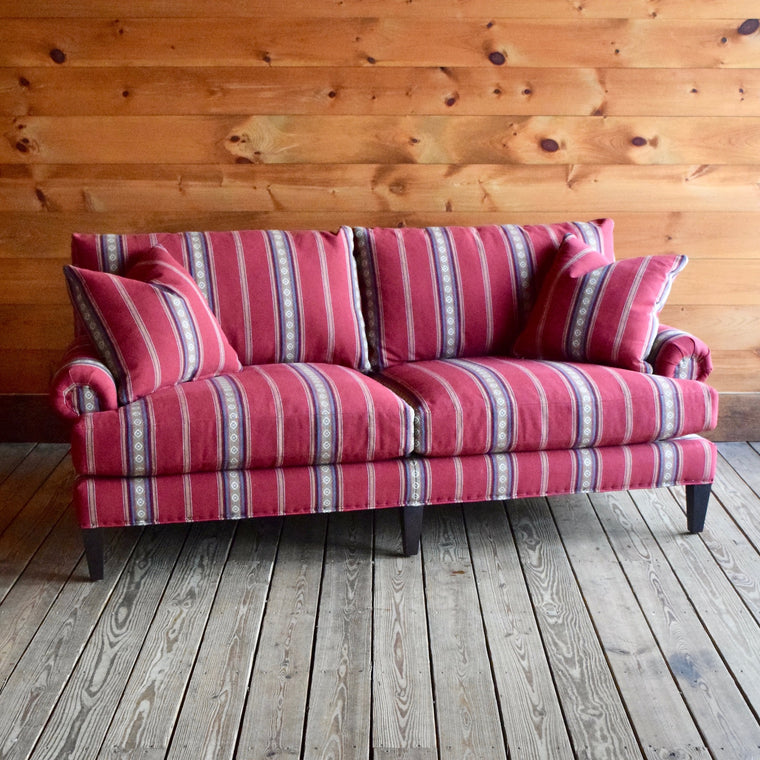 Hadley Sofa in Chili Stripe