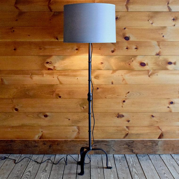 Curved Iron Tripod Floor Lamp