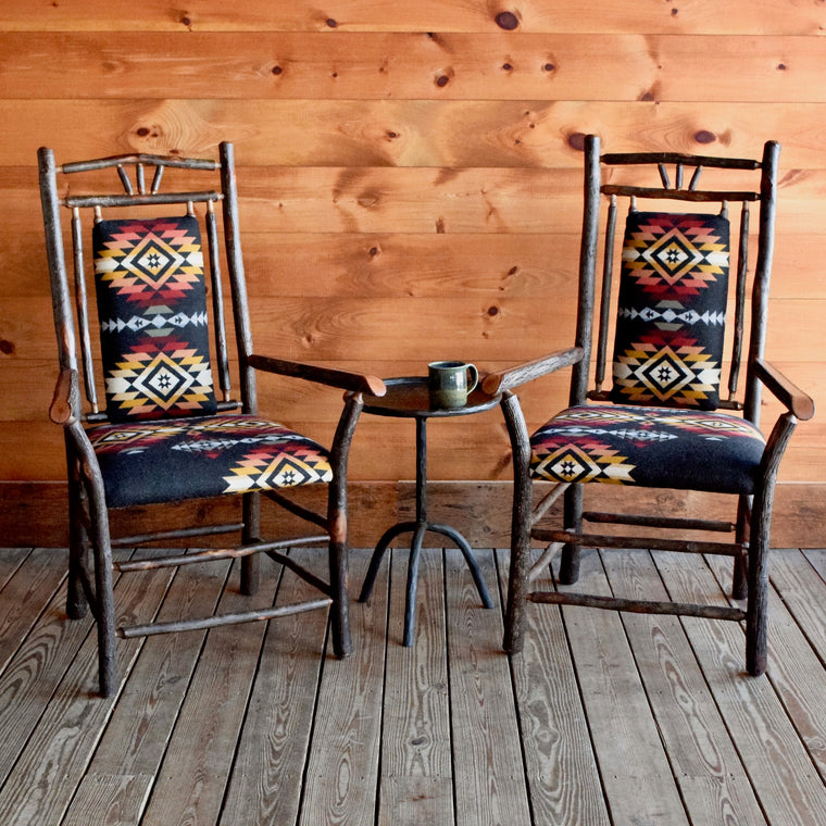 Pair of 3-Finger Arm Chairs in Pendleton Pueblo Dwelling | Dartbrook Signature Collection