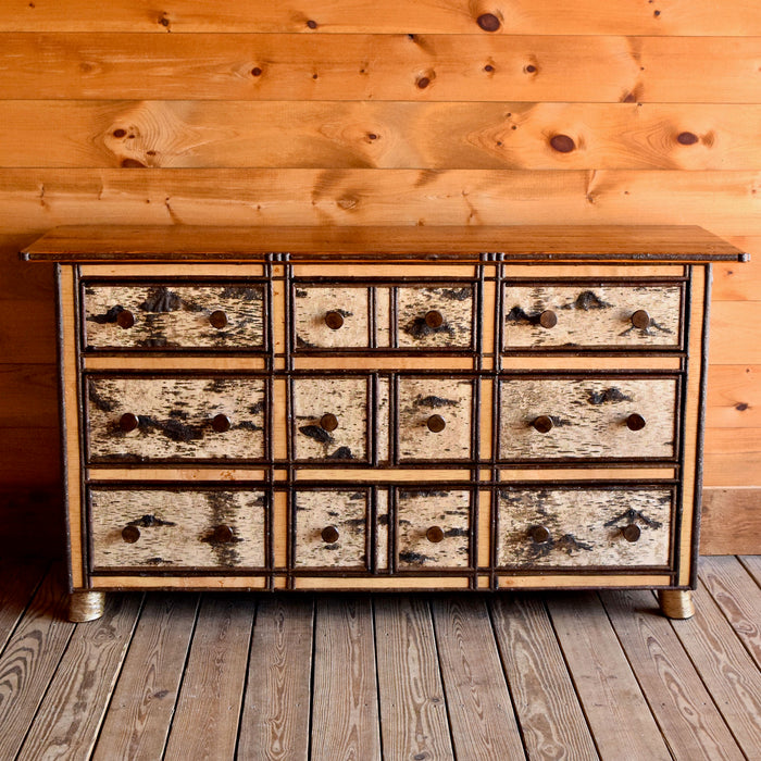 Birch, Willow and Barnwood Dresser with 7 Drawers