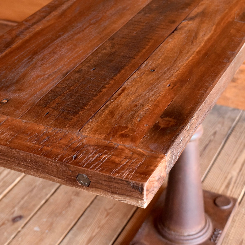 Rustic Reclaimed Teak and Iron Console Table