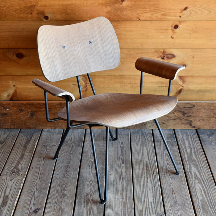 Mid-Century Rustic Chair with Hairpin Legs