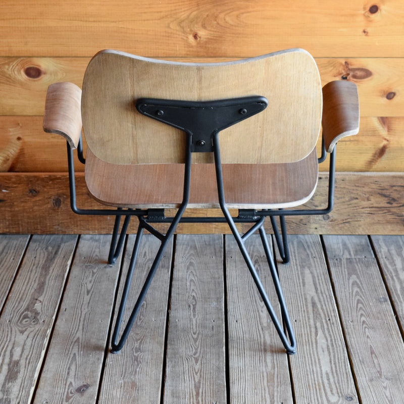 Mid-Century Rustic Chair with Hairpin Legs  Edit alt text