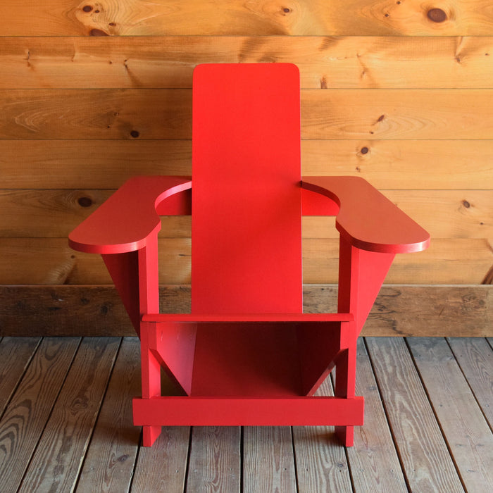 Red Classic Adirondack Westport Chair in Pine or Cypress