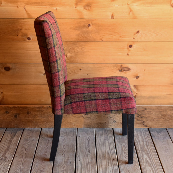 Cranberry and Green Plaid Dining Chair
