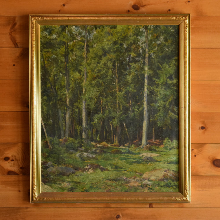 Vintage Hugh Bolton Jones Oil on Canvas: