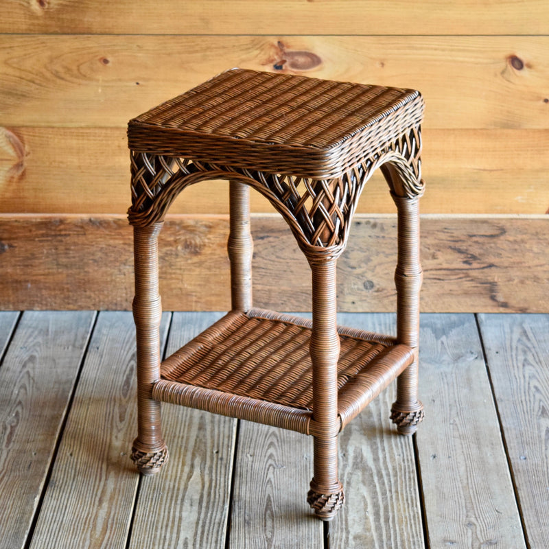 Wicker End Table in Coffee Finish