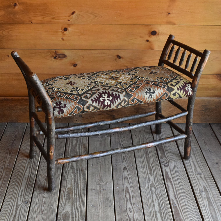 Roman Bench | 3 ft. with Vintage Kilim Seat | Dartbrook Signature Collection