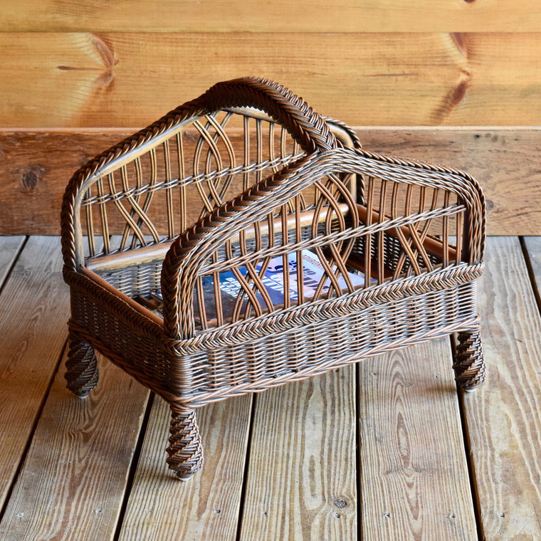 1914 Wicker Magazine Rack