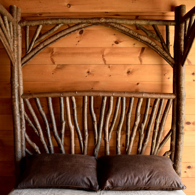 Rustic Twig Canopy Bed