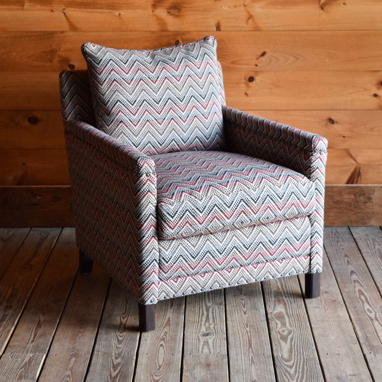 Placid Chair in Pivot Carmine Stripe