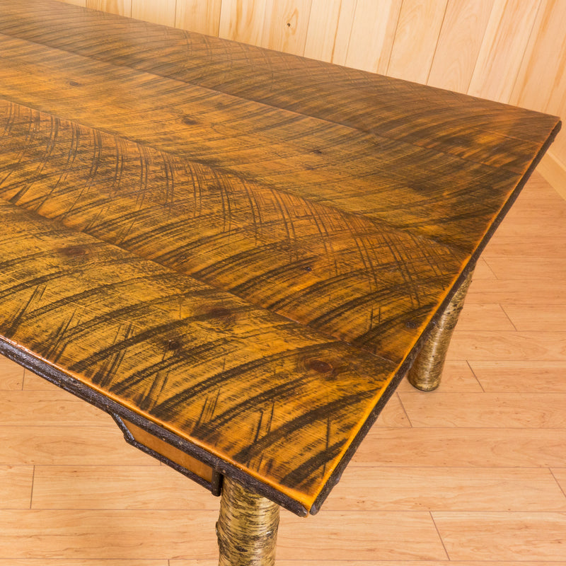 Handmade Rustic Birch and Barn Wood Dining Table