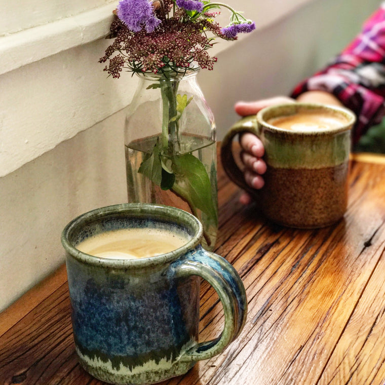 Fireside Coffee Mugs Handmade in the Adirondacks in New York State