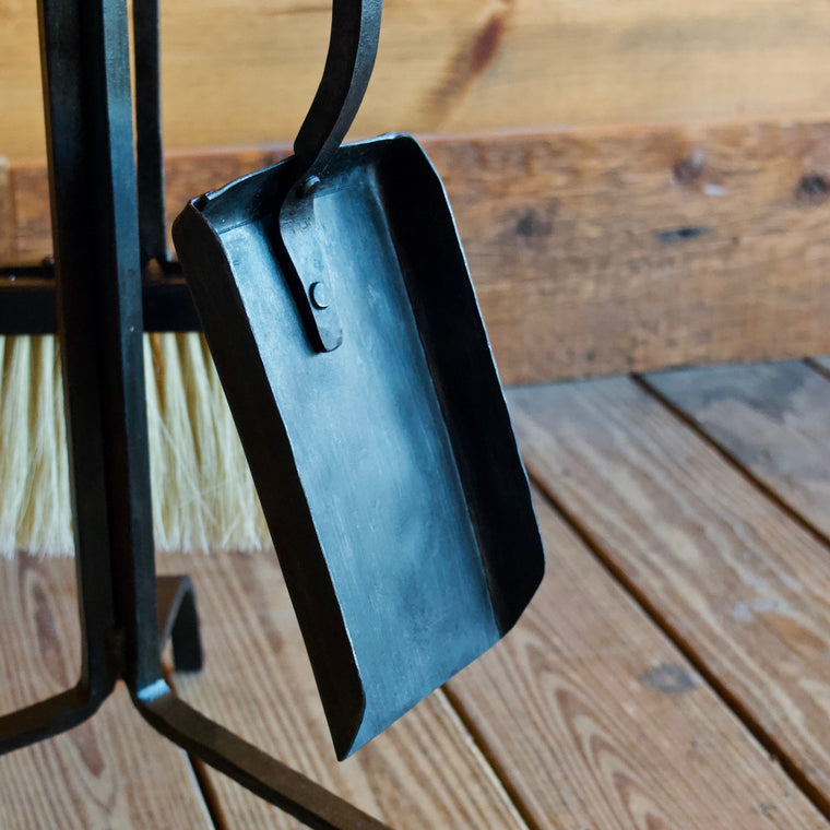Forged Iron Fireplace Tool Set Made in the Adirondacks