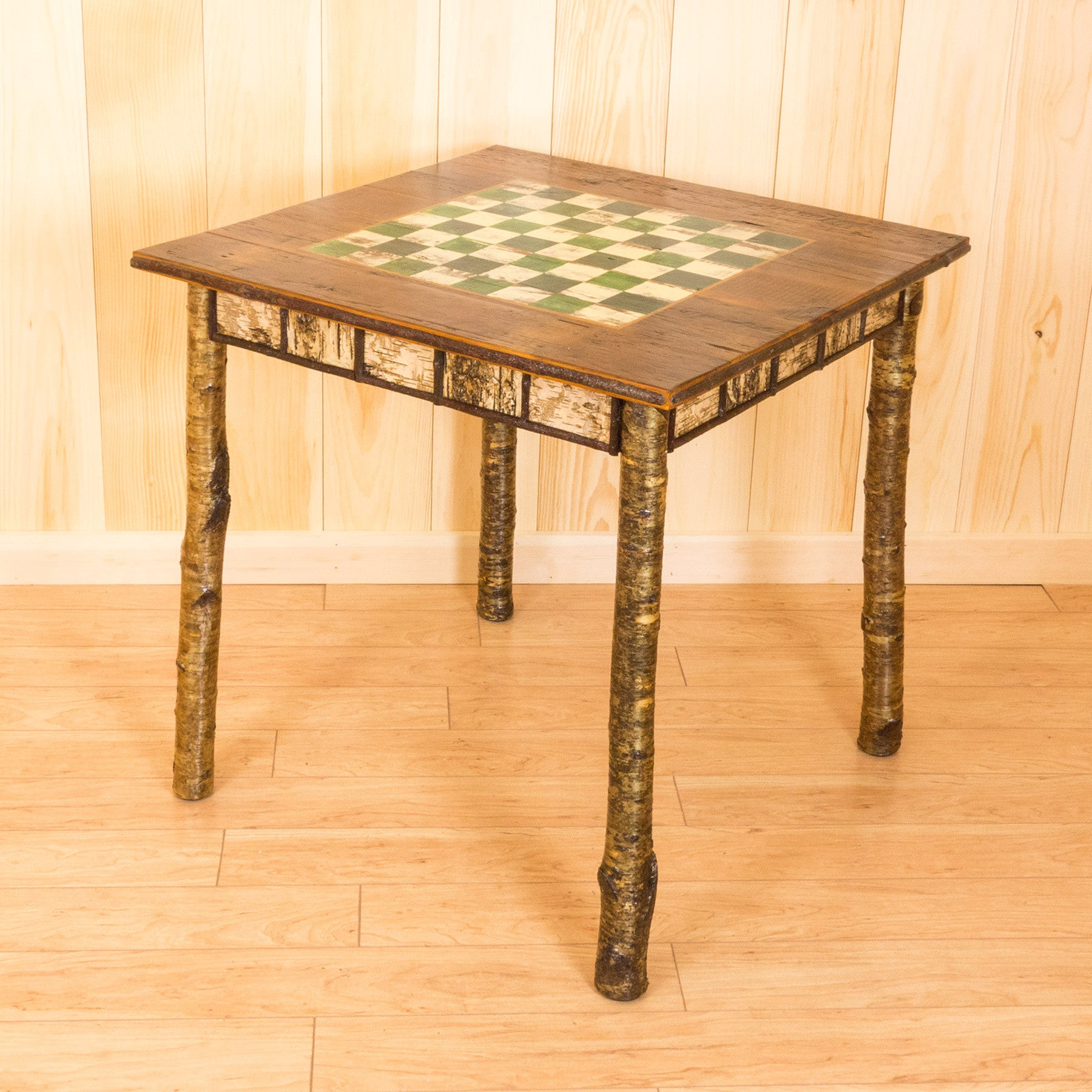 Hand Painted Rustic Birch Game Table ...