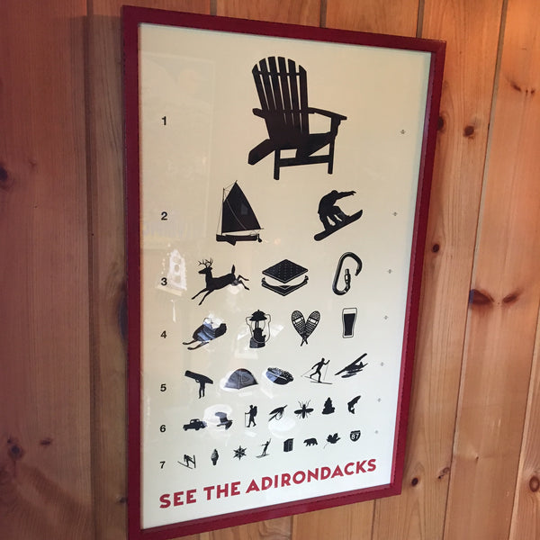 See the Adirondacks in Custom Frame