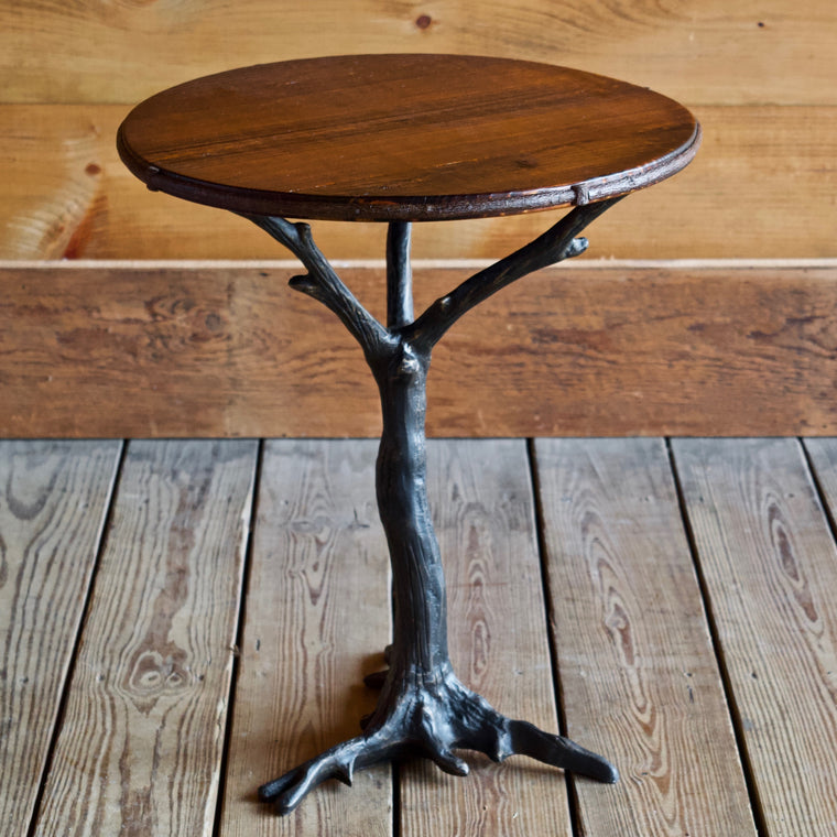 Iron Root Base Side Table with Barnwood Top | Dartbrook Signature Collection