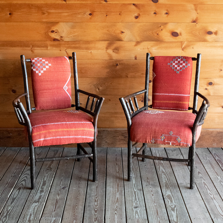 Pair of Keene Valley Chairs in Cactus Silk | Dartbrook Signature Collection