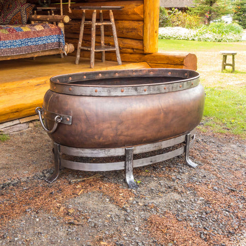 Copper Oval Fire Pit