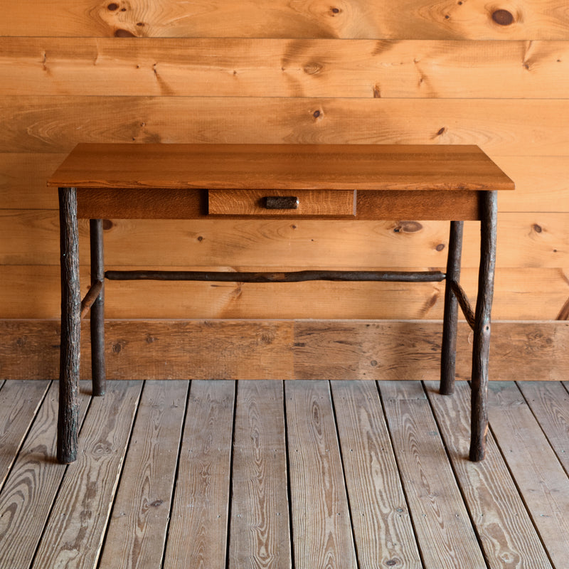 "46"" Rustic Oak and Hickory Writing Desk"