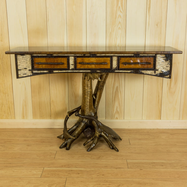Yellow Birch Root Console Table