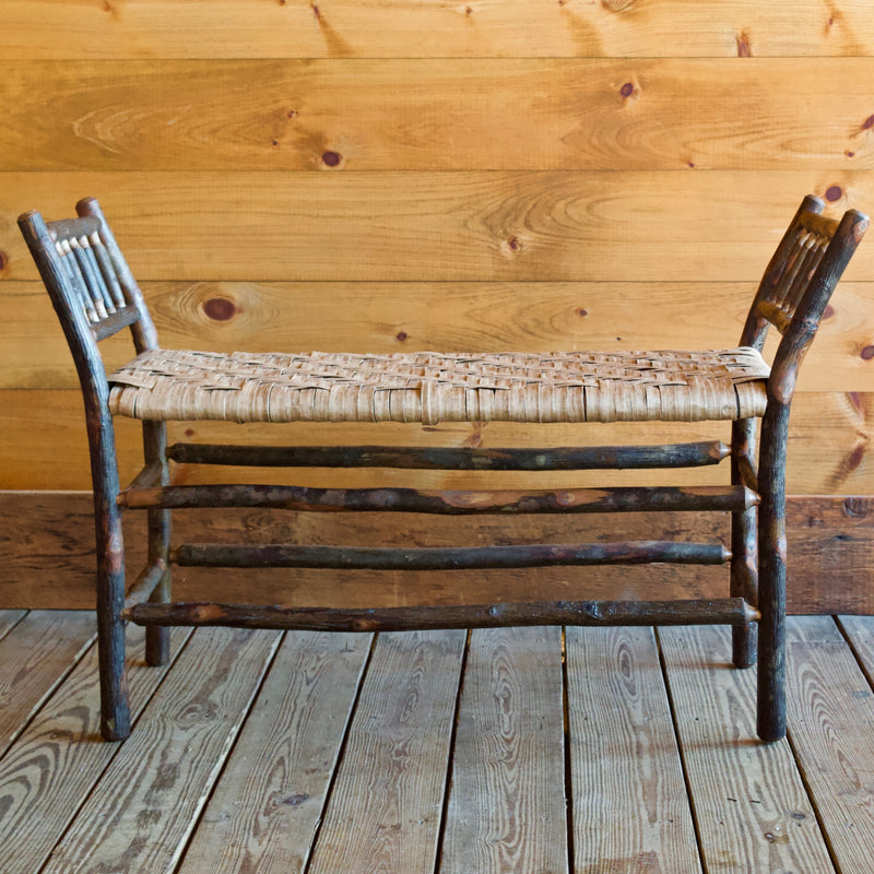 Roman Bench with Eco-friendly Paper Splint Seat