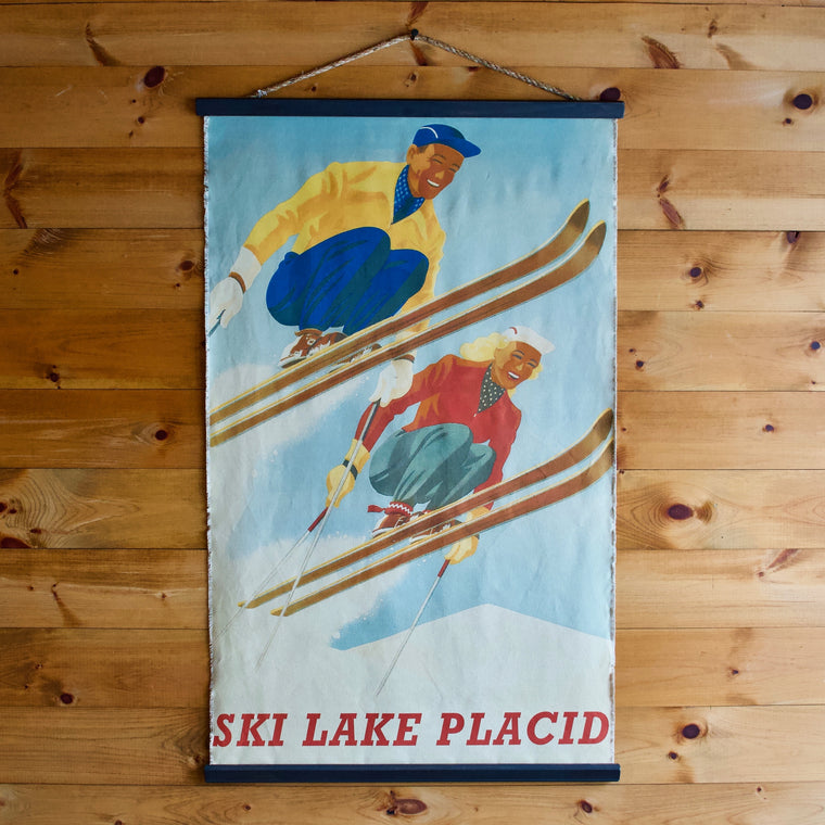 Ski Lake Placid Wall Chart