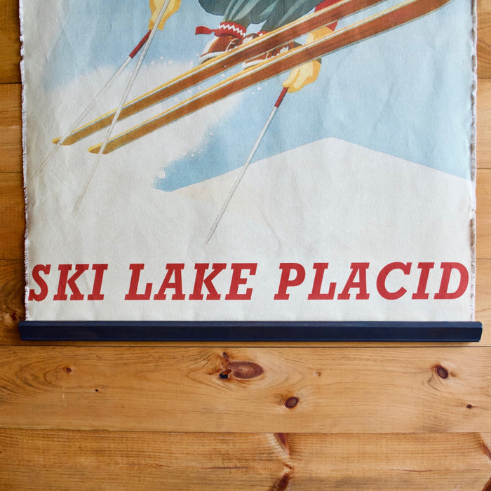 Ski Lake Placid Canvas Wall Chart Poster