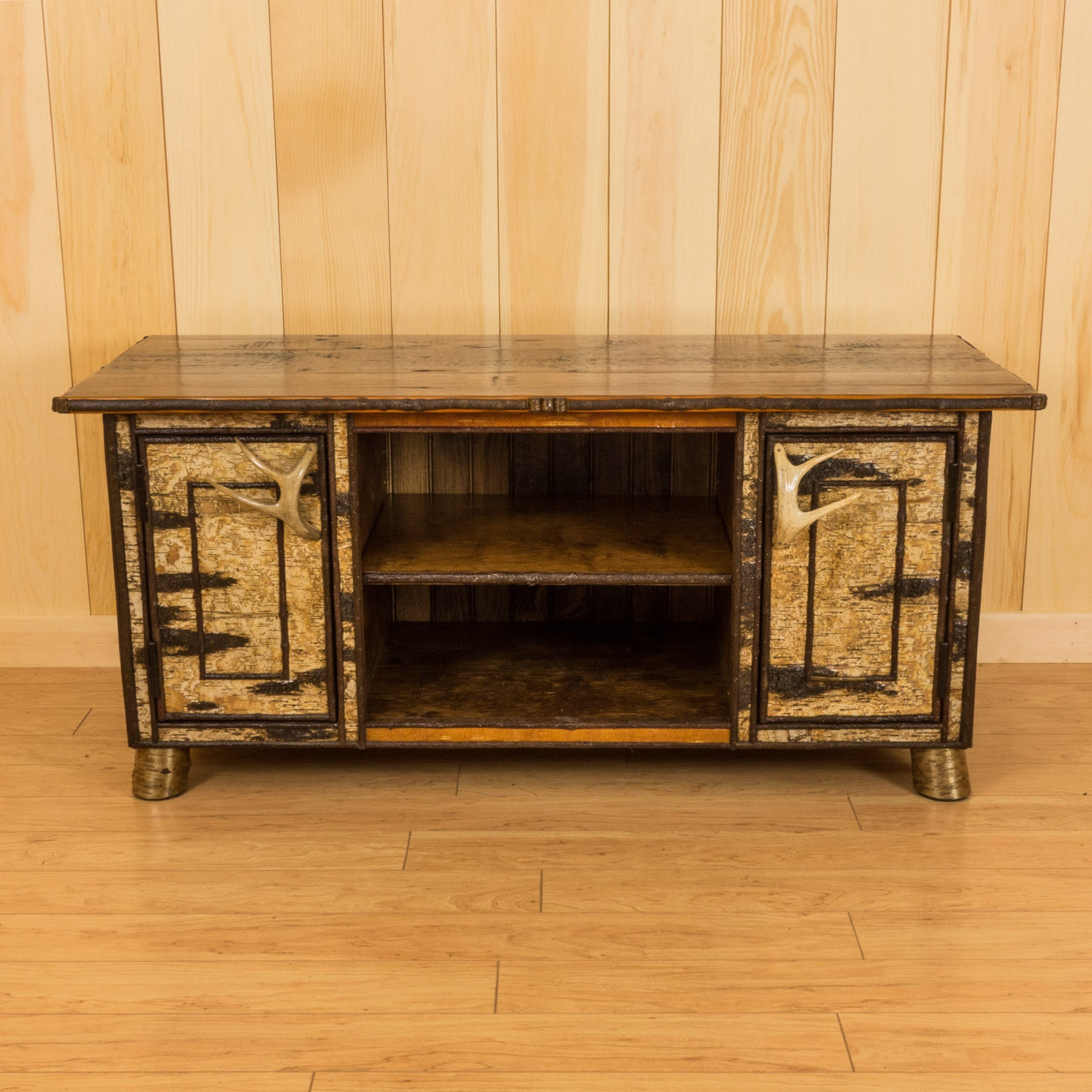 Rustic 4' Birch Entertainment Cabinet