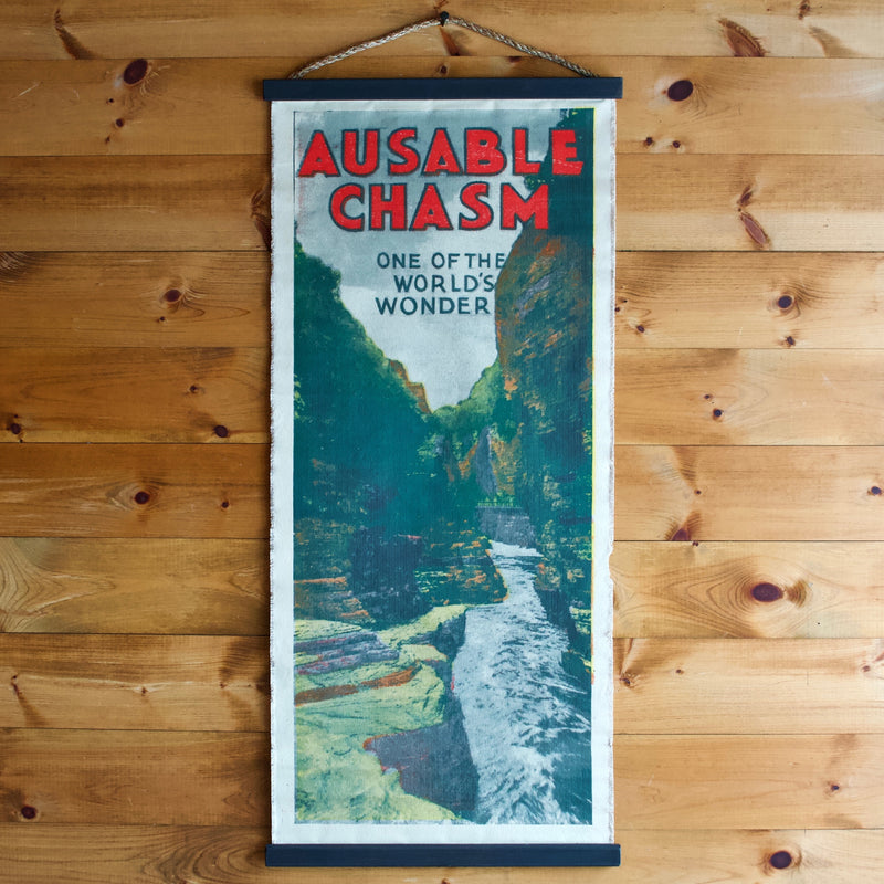 Ausable Chasm Canvas Wall Chart Poster