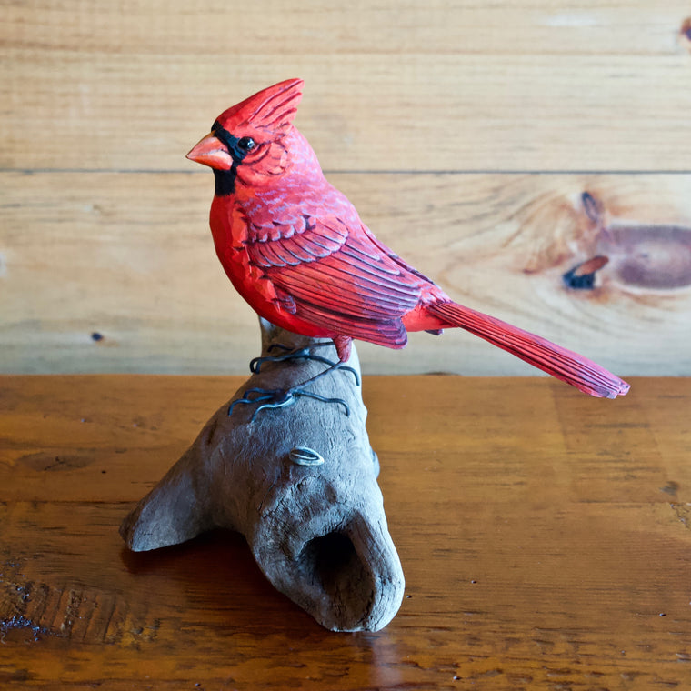Cardinal Carving by Allen Aardsma
