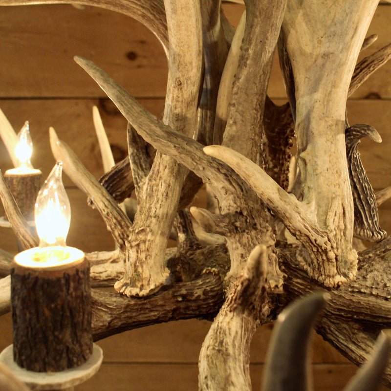 Rustic Whitetail antler chandelier