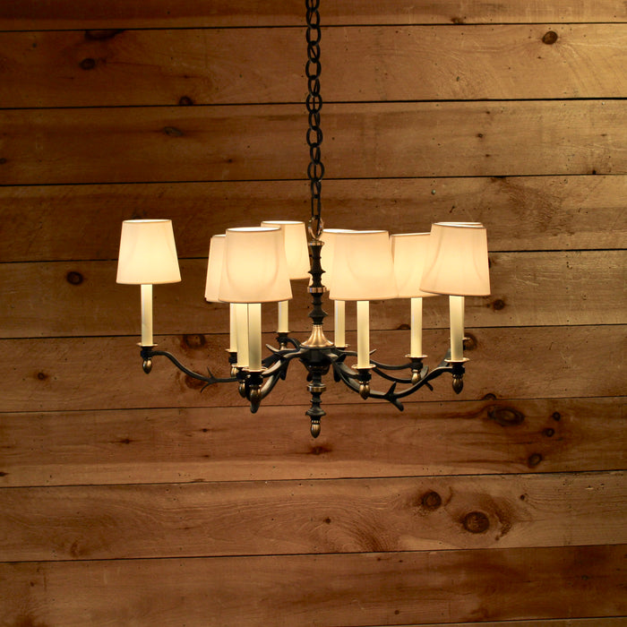 Blackened Rust with Antique Brass Chandelier Ceiling Light