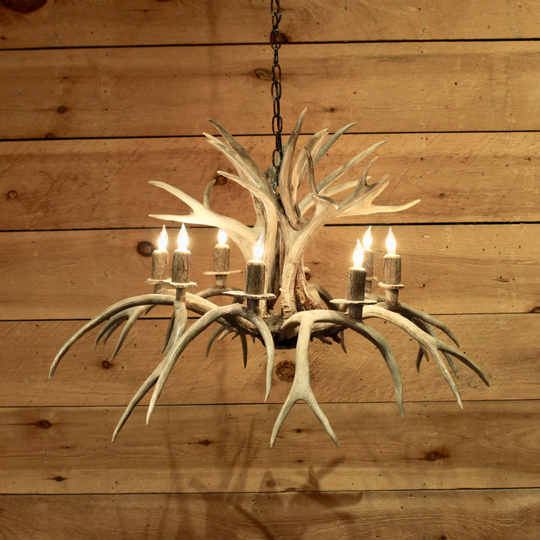 Inverted Whitetail Antler Chandelier | 8-Light