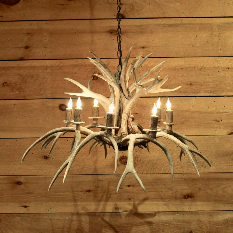 Inverted antler chandelier rustic adirondack lighting dartbrook rustic inverted whitetail antler chandelier rustic inverted whitetail antler chandelier aloadofball Image collections