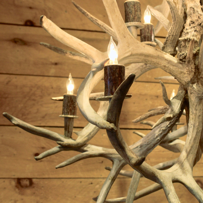 Non-Typical White Tail Antler Globe Chandelier