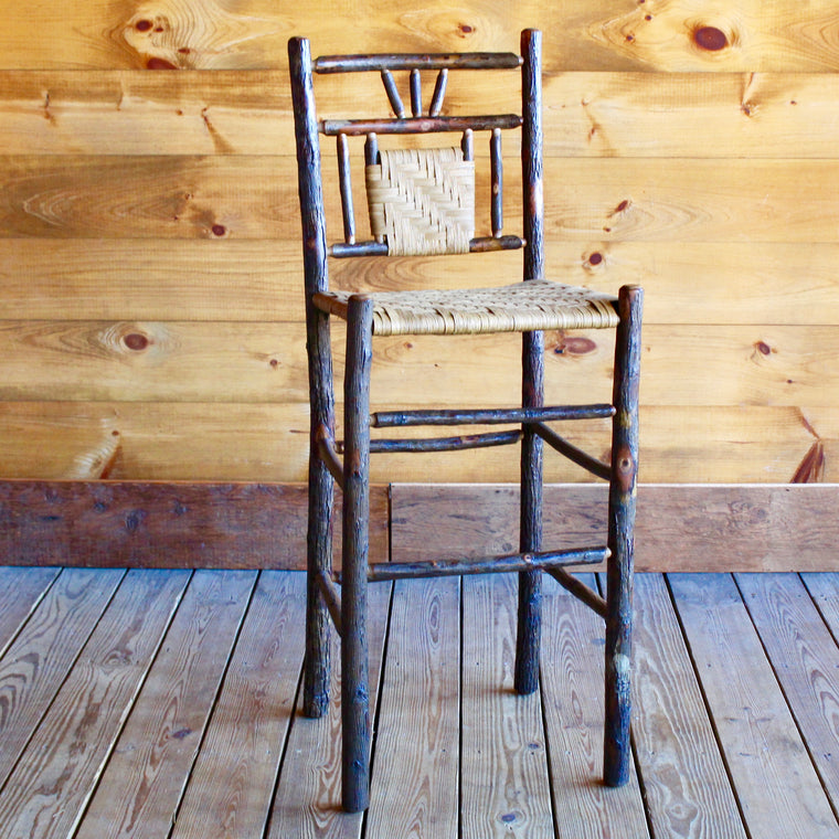 3-Finger Hickory and Splint Bar Stool | Dartbrook Signature Collection