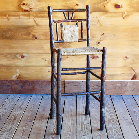 3-Finger Hickory and Splint Bar Stool