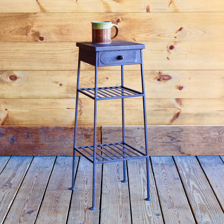 Compact Metal Side Table