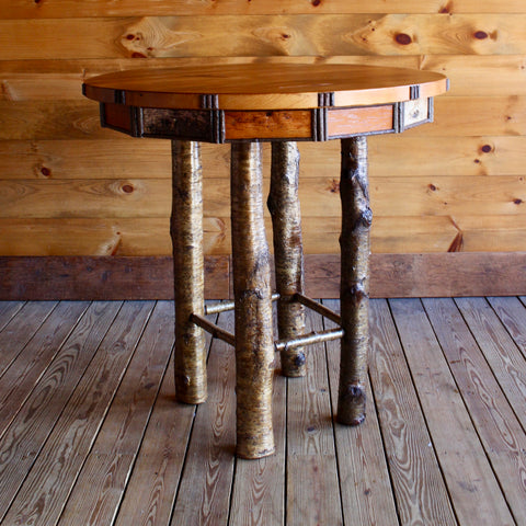 Handmade Adirondack Rustic Pub Dining Table